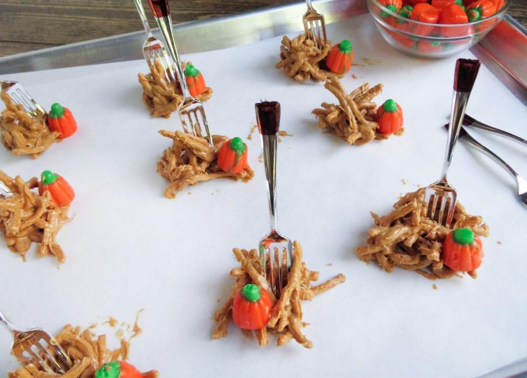 Peanut Butter Haystacks halloween recipe