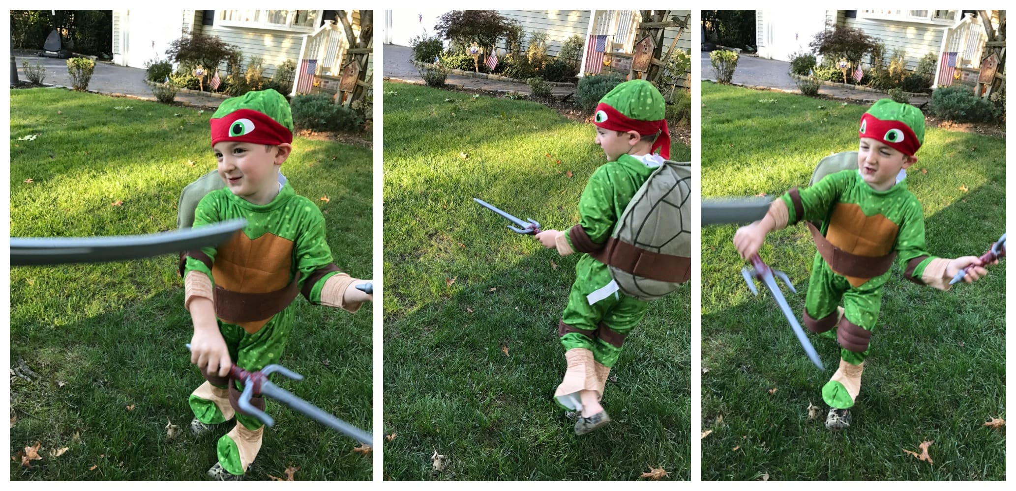together we created our very own ultimate turtle team with great costumes from target