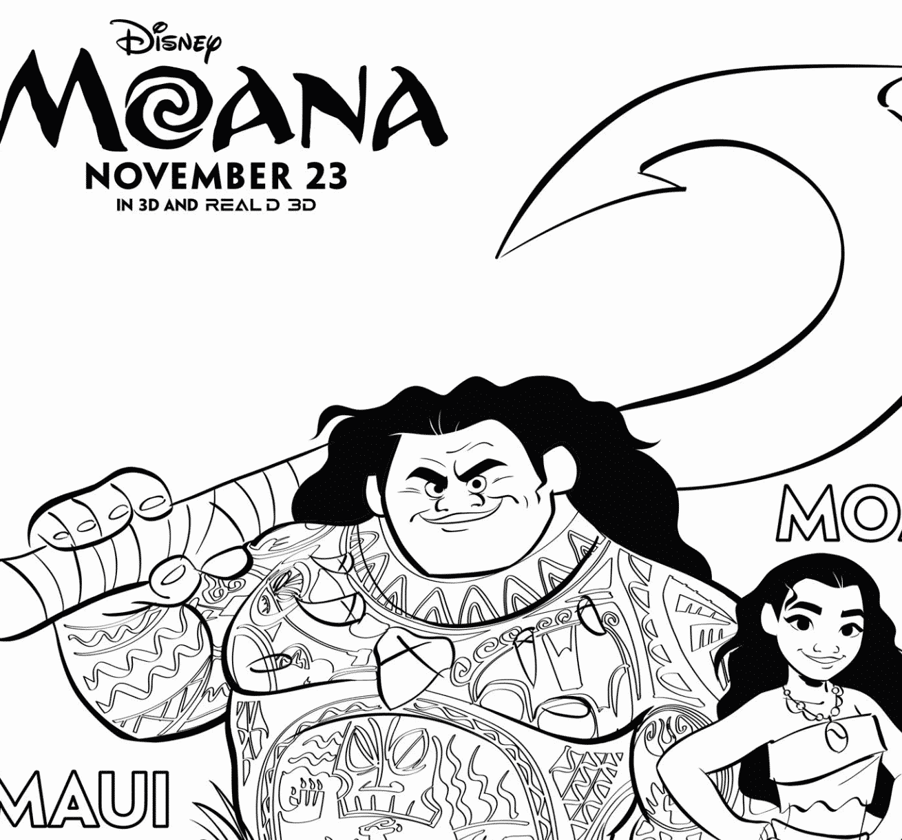 Free Moana Coloring Pages Download Printables Here