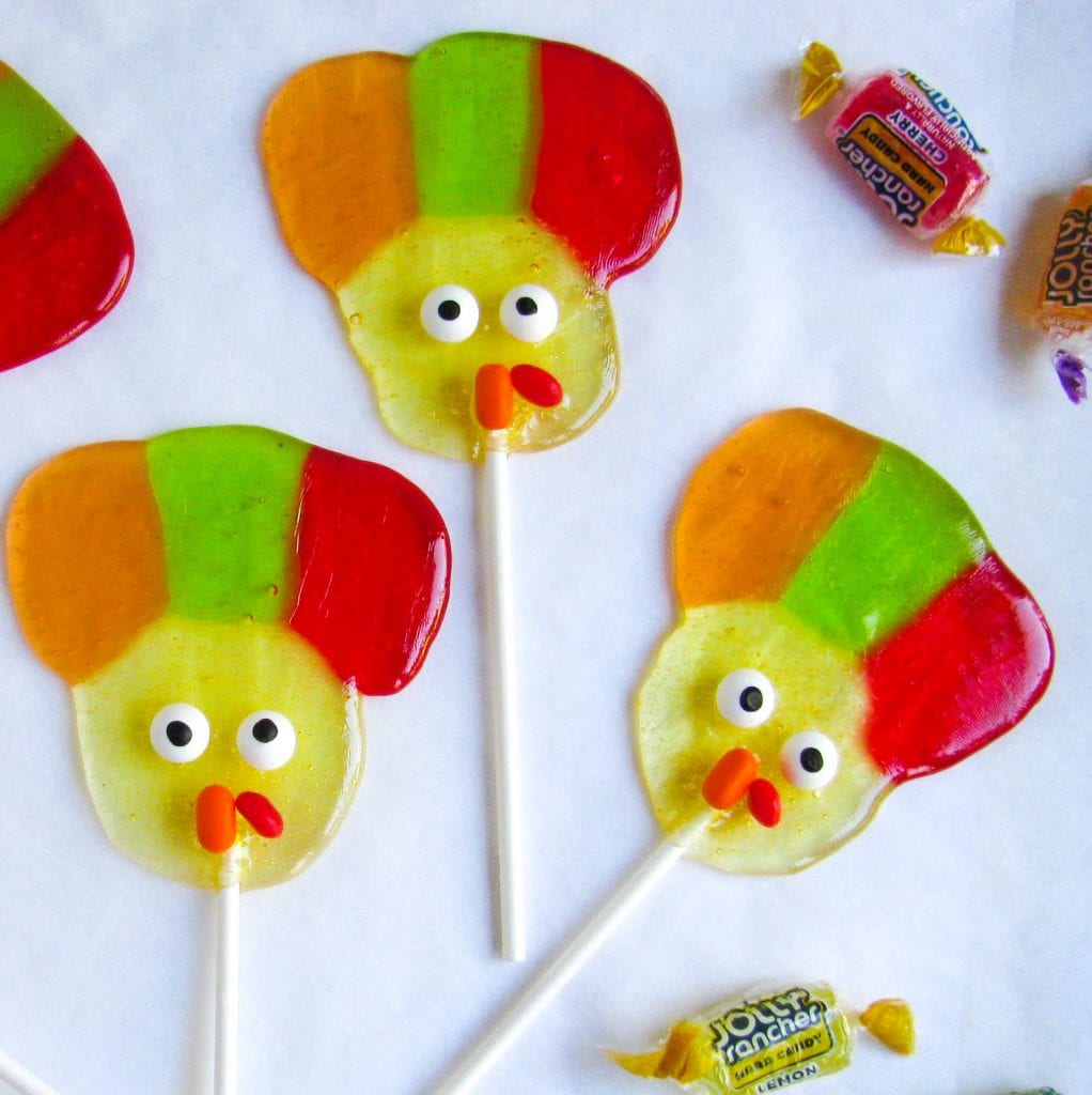turkey lollipops