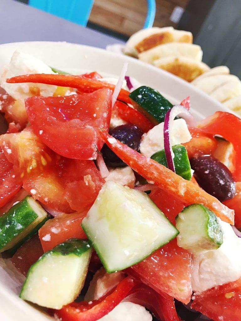 tomato and cucumber greek salad