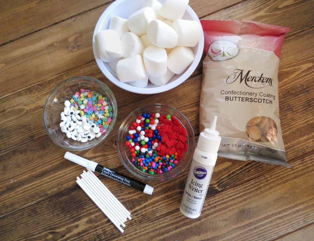 ingredients for Marshmallow Gingerbread Pops