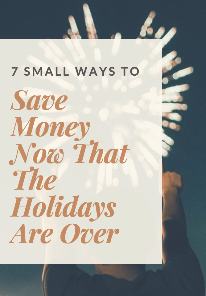 save money after the holidays
