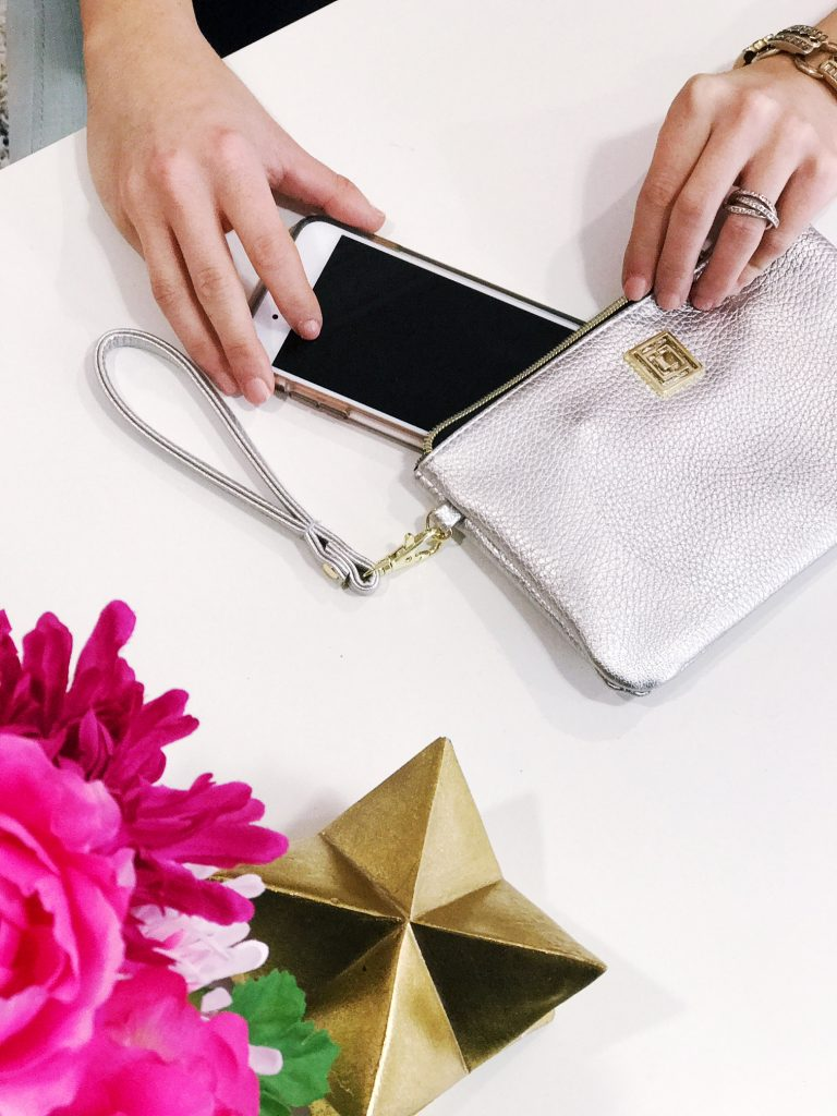 Liz Claiborne Phone Charging Wristlet Wallet