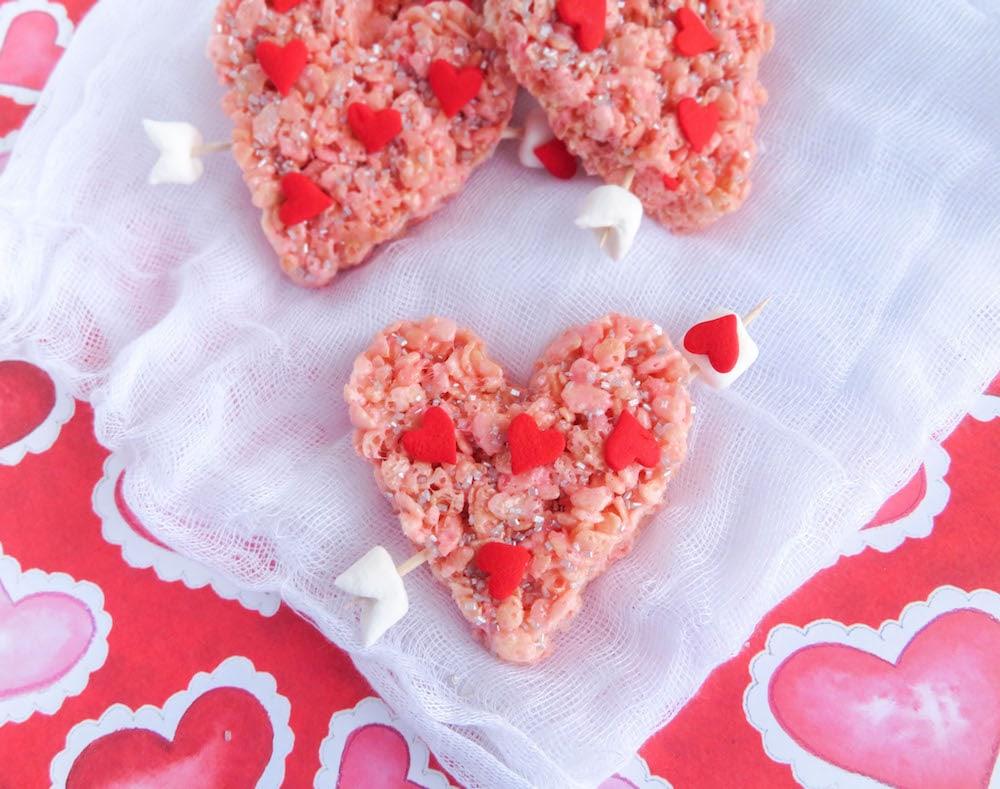 Valentine Rice Krispie Treats - Cupid's Heart | Lady and ...