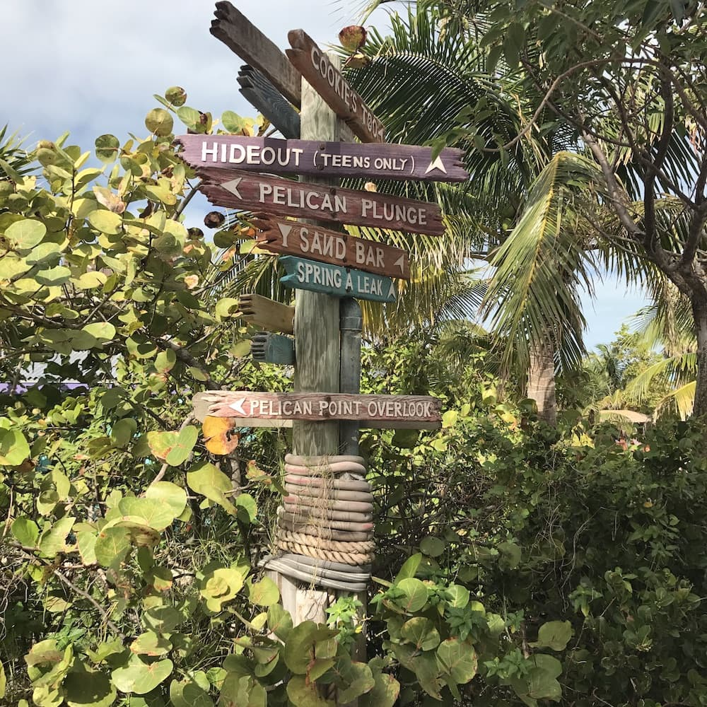 Information sign on Castaway Cay - Disney Cruise Island