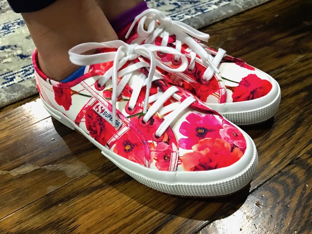 What She Wore (Tween Edition): Superga Carnation-Print Sneakers From @JJillStyle