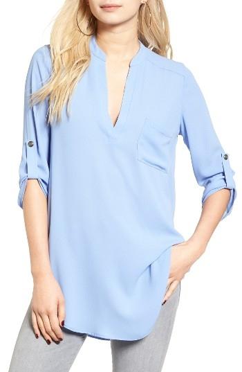 Women's Lush 'Perfect' Roll Tab Sleeve Tunic