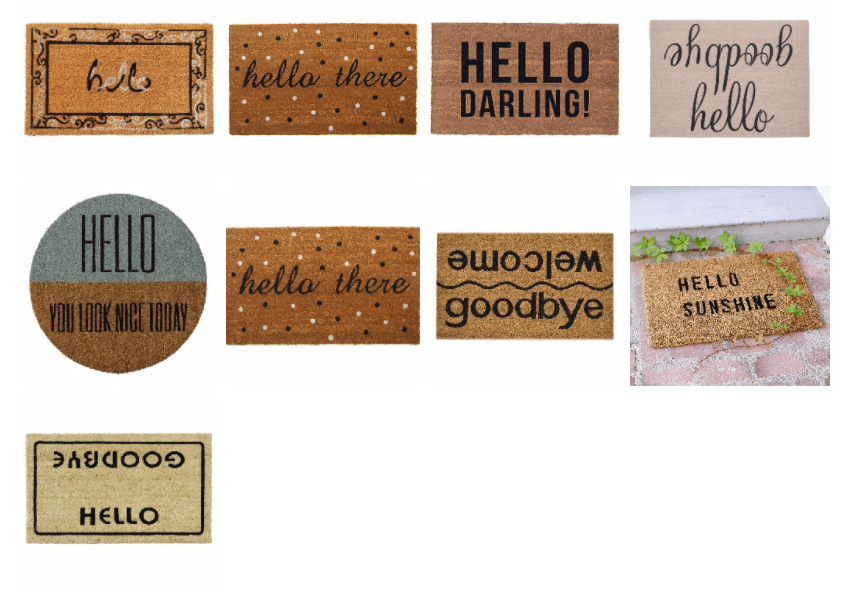 More Styles For Your New Doormat For Spring