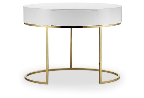 Gold Office Desk Idea: Grace Steel Writing Desk