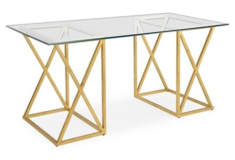 Gold Office Desk Idea: Agnes 65