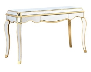 Gold Office Desk Idea: Elegant Lighting Camille 1 Drawer
