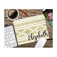 Gold Aztec Tribal Personalized Mouse Pad