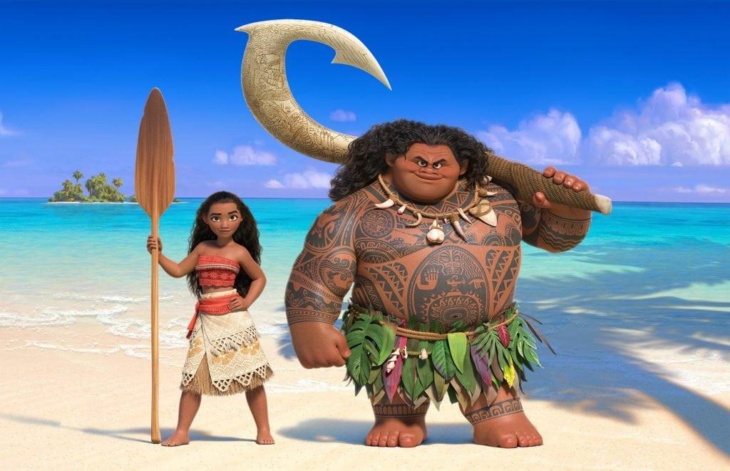 The animated stars from the Moana movie