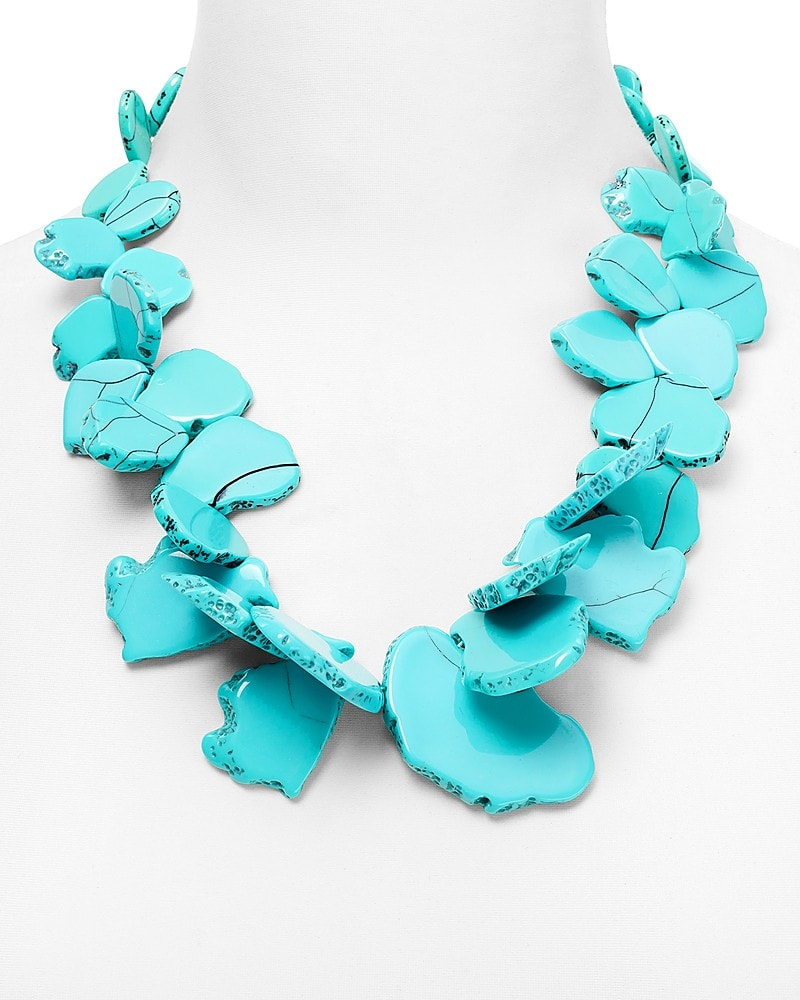 Seaglass bib necklace