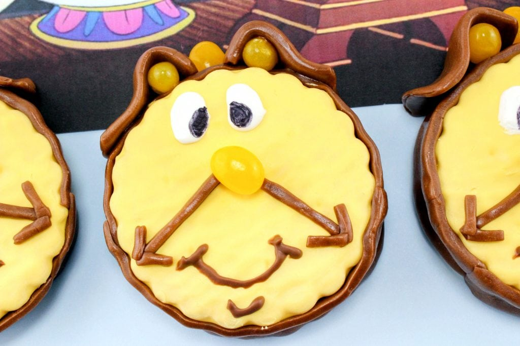 Cogsworth Cupcakes from Beauty and the Beast