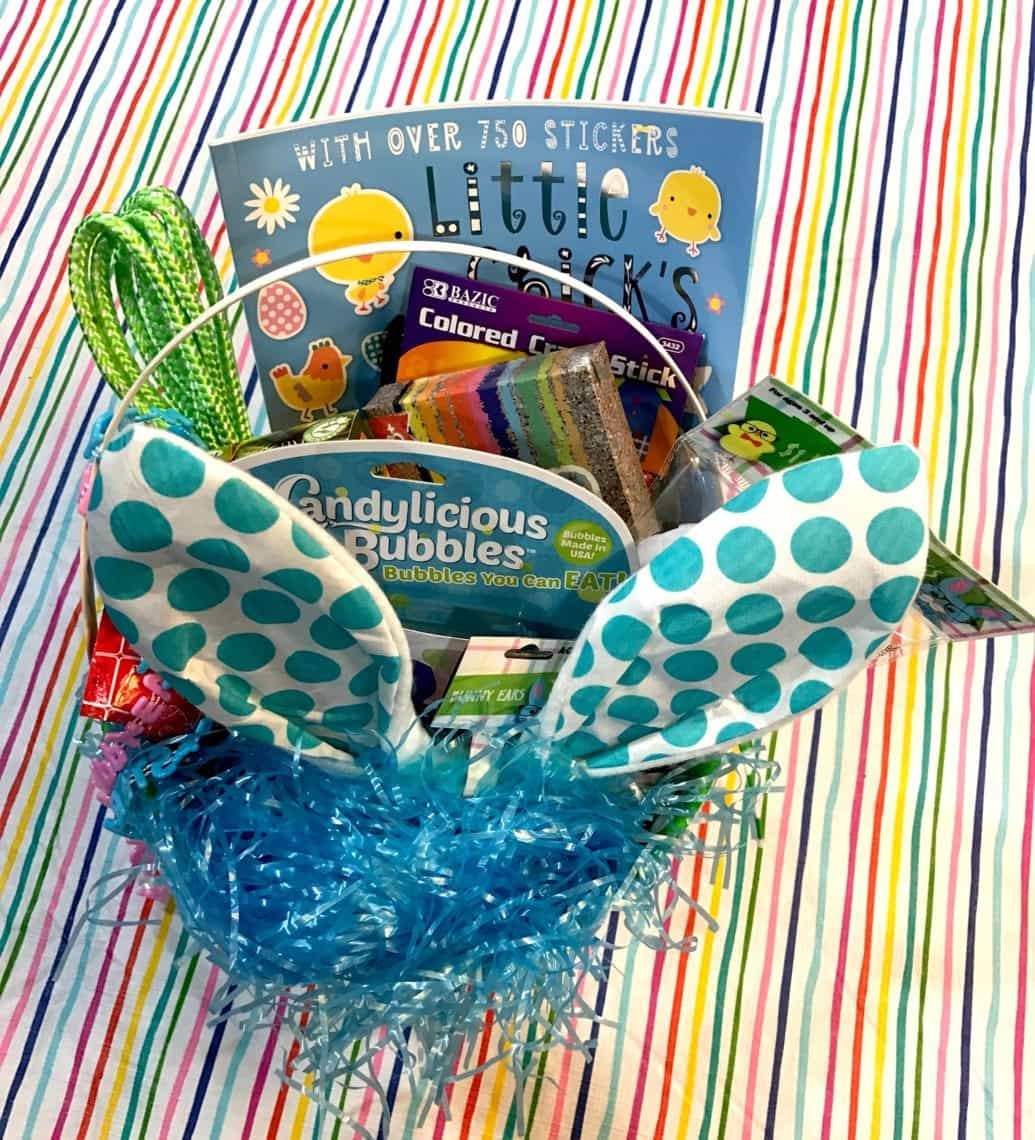 12 ideas for your childs easter basket besides candy i like to buy small easter baskets and then overstuff them because it gives the illusion negle Choice Image