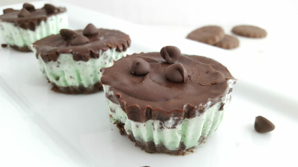 Mint Ice Cream Cookie Cups Recipe