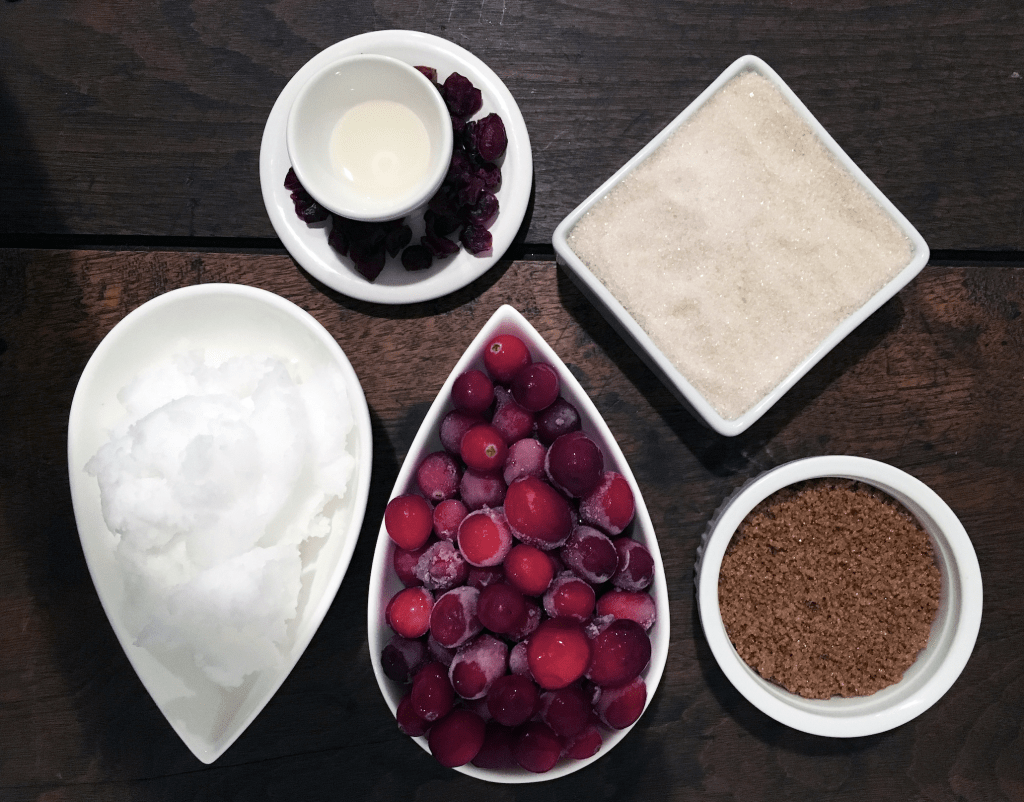 Cranberry Sugar Scrub Ingredients