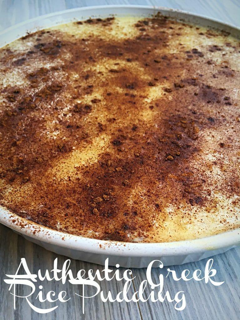 Greek Rice Pudding Recipe