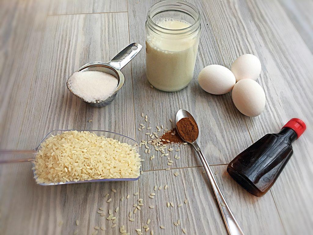 Greek Rice Pudding Recipe ingredients