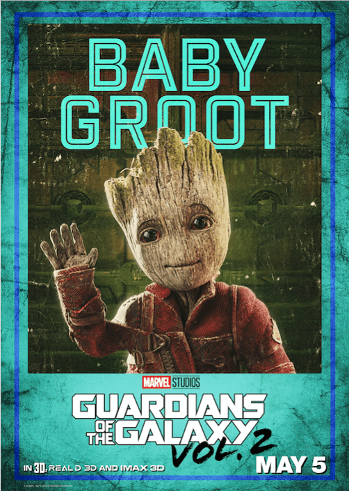 Baby Groot Poster from the Guardians of the Galaxy Vol 2 movie