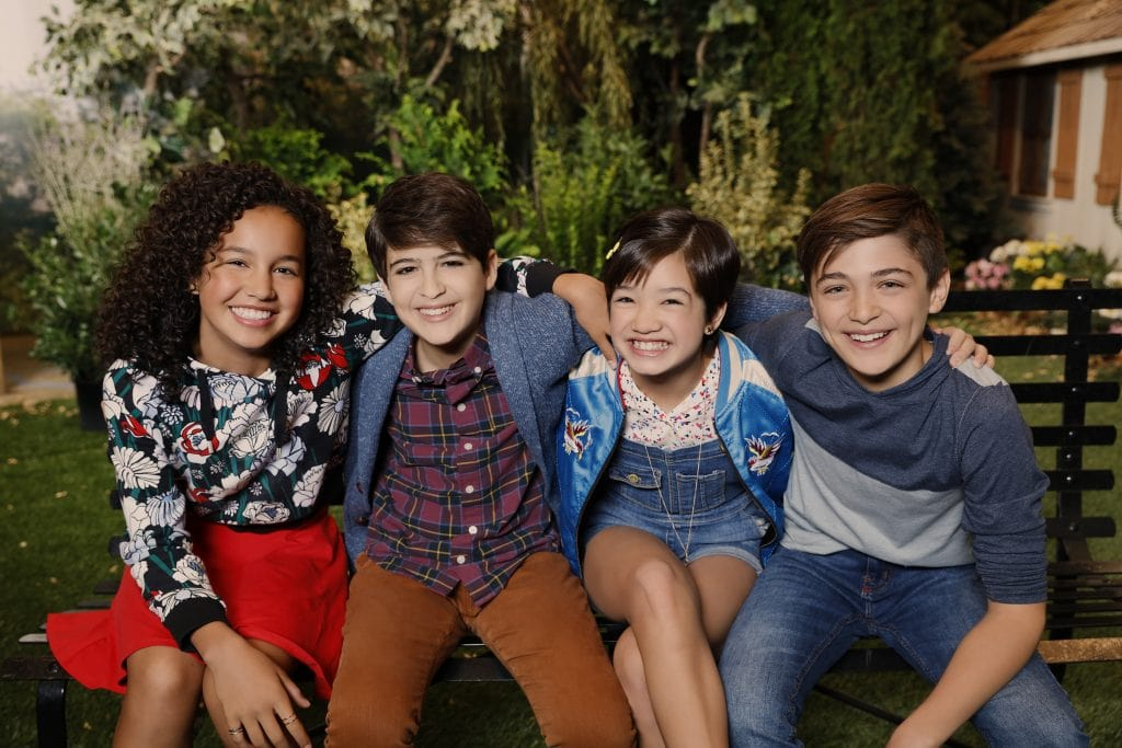 The cast of the new comedy Andi Mack