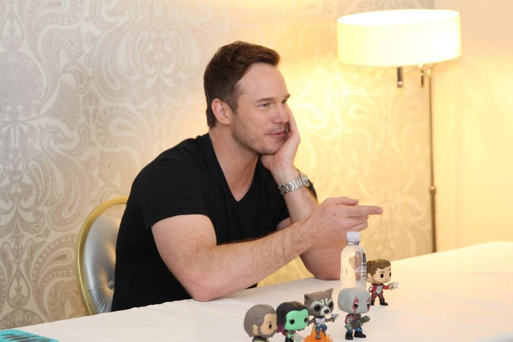 An interview with Chris Pratt from Guardians of the Galaxy movies.