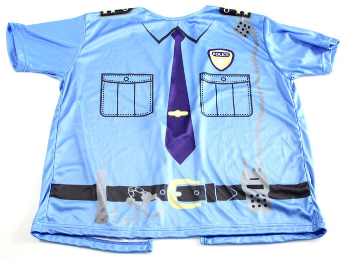 policeman Pediatric Hospital Gown Line