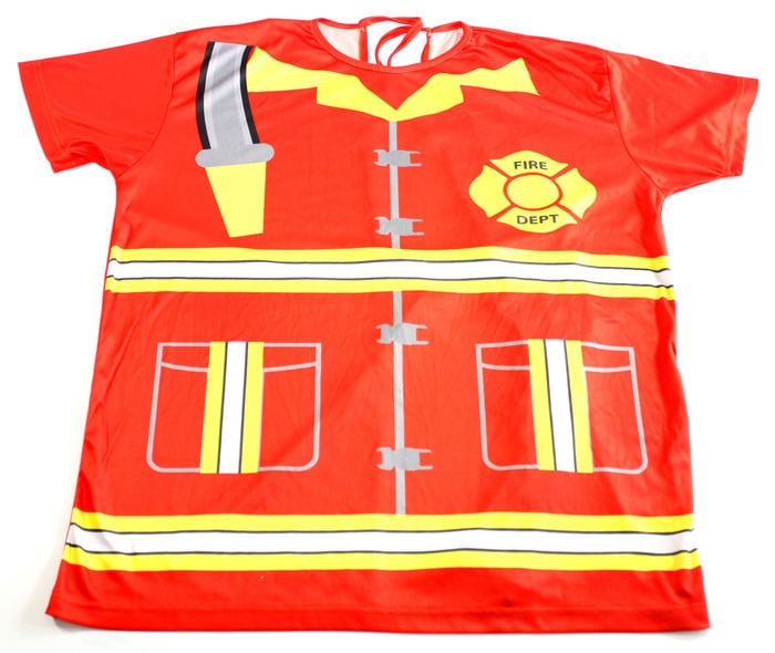 Pediatric Hospital Gown Line fireman shirt