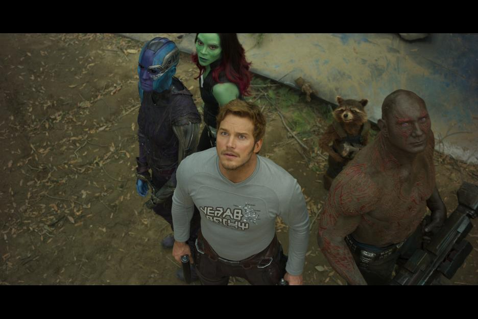 The cast of Guardians of the Galaxy movie