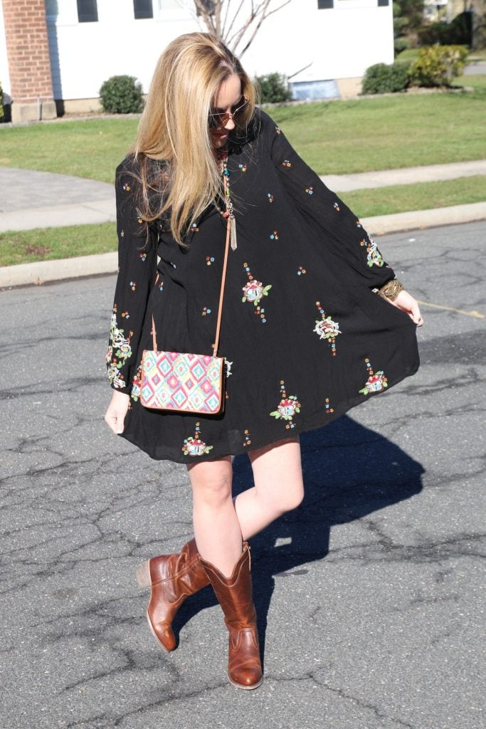 hobo Vibe Embroidered Minidress from Free People