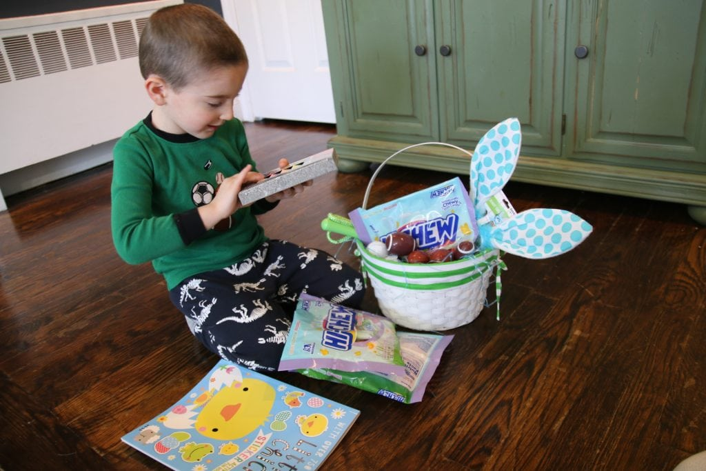 The Easter bunny likes to include sticker books, outdoor toys, bunny ears and some of our favorite candy – HI-CHEW.