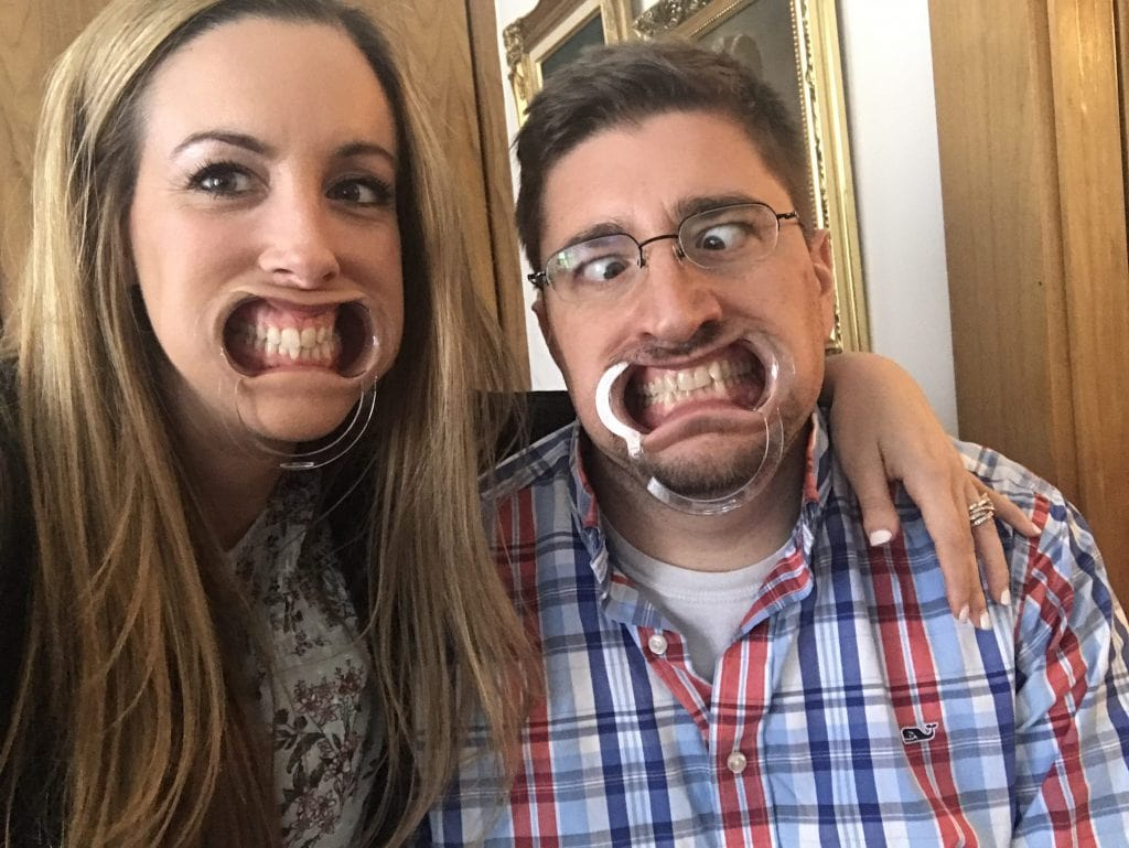 Watch Your Mouth - Husband and Wife Wearing Mouthguard