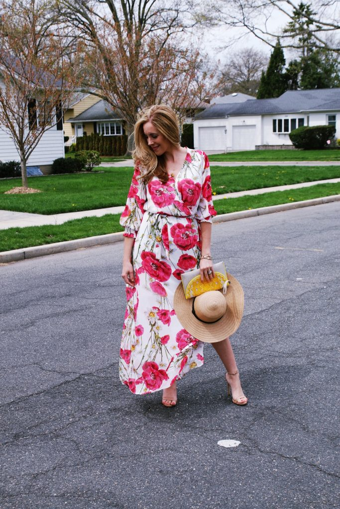 This Wrap Maxi Dress is great for spring