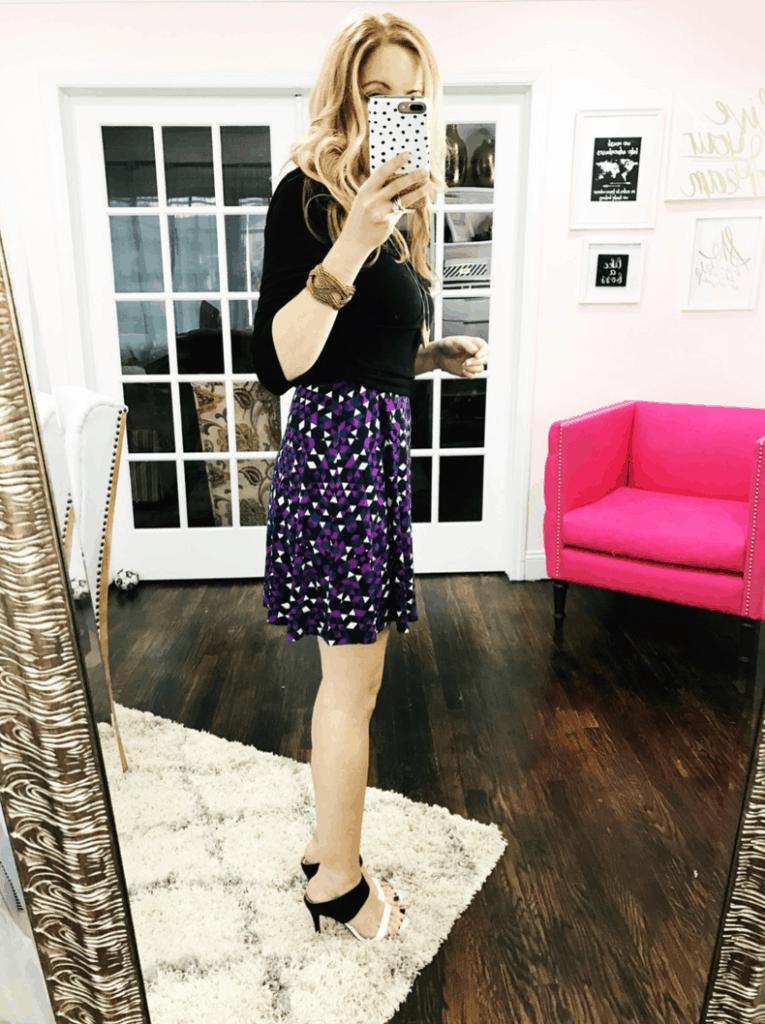 Luxury A-Line Dress in Kaleidoscope
