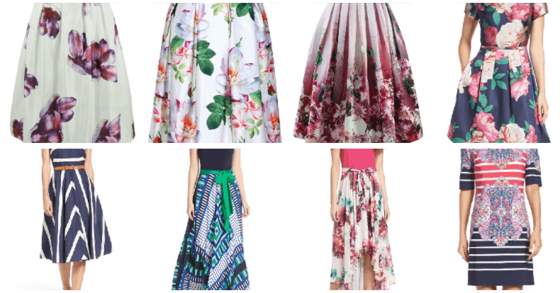 Different options for floral skirts online