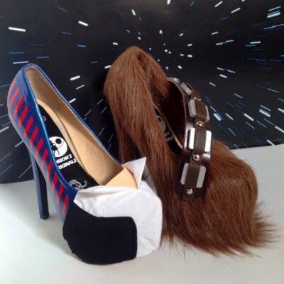 Solo And Wookiee Heels: Must Own Custom Made Star Wars Fashion