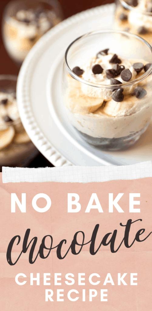 No Bake Chocolate Peanut Butter Banana Cheesecake Recipe