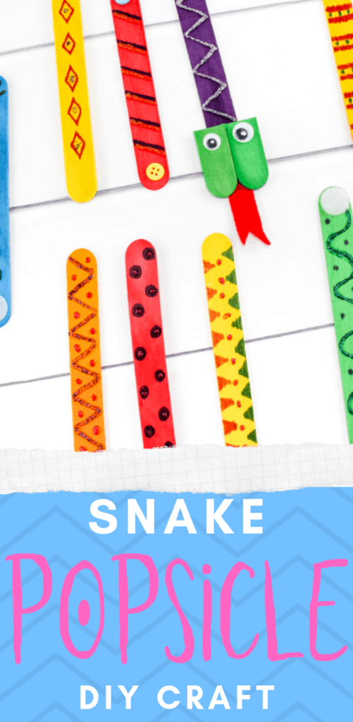 Snake Craft Project Made With Popsicle Sticks