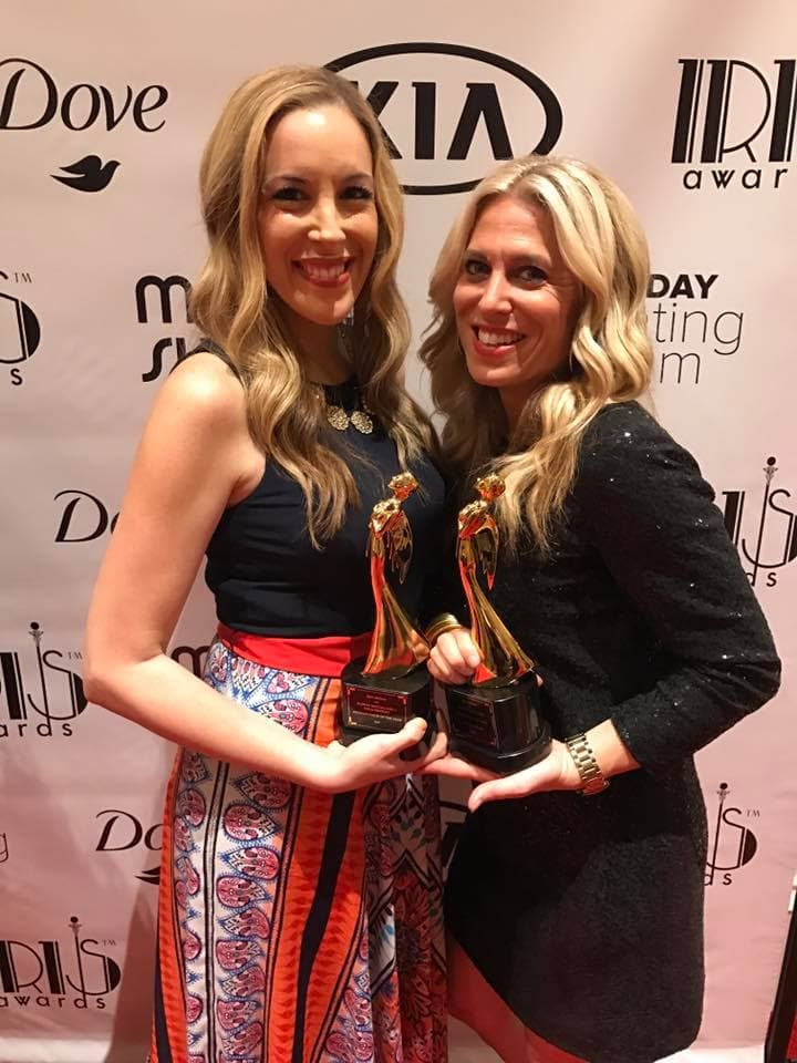 Vera and Audrey, named Entrepreneurs of the Year at Mom 2.0 Summit in Orlando 2017