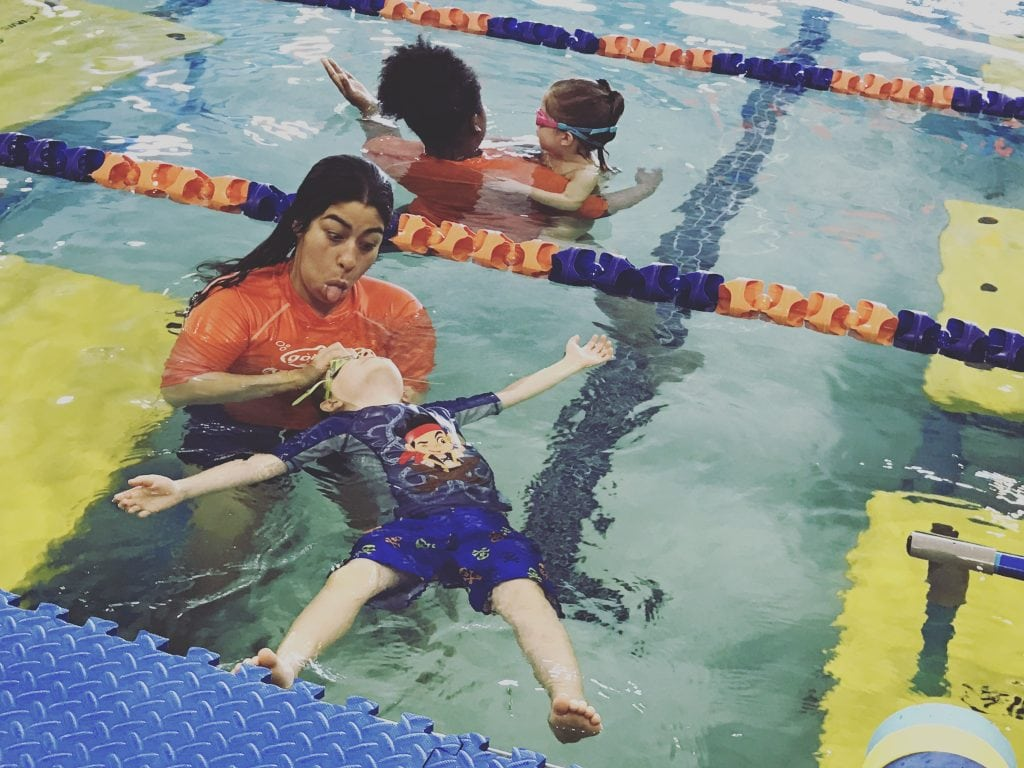 Swimming classes for infants and toddlers