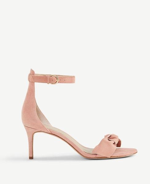 muted pink heel