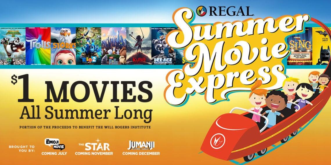 Regal $1 Movie Line Up: 2017 Summer Movie Express