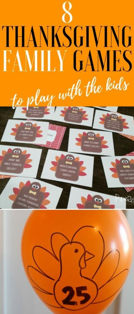 Thanksgiving family games fun ideas for your holiday