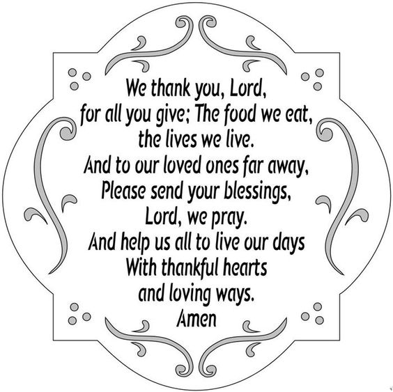 We Thank the Lord on Thanksgiving - a prayer
