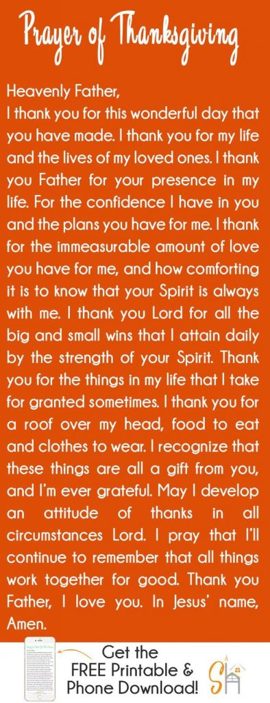 A Thanksgiving Prayer for the Family