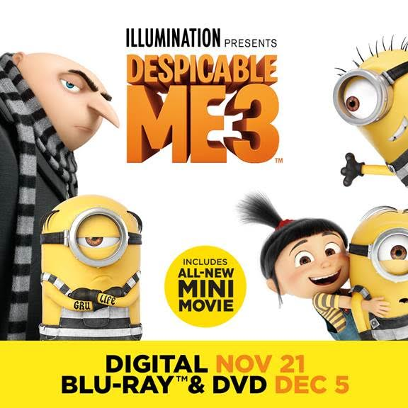 'Despicable Me 3 Special Edition' Available On November 21st #DespicableMe3 #DM3Family