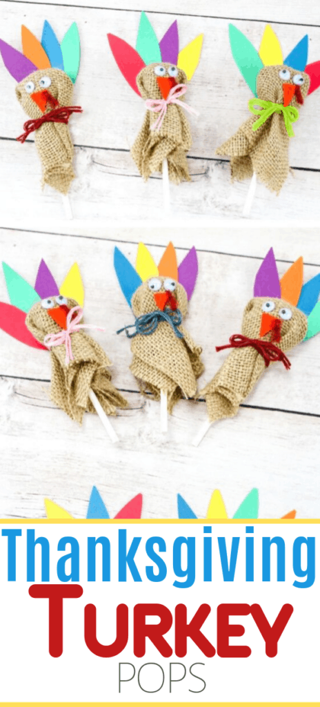 turkey lollipops for kids