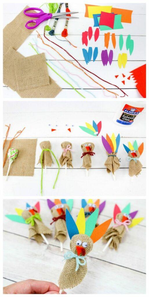 how to make turkey lollipops